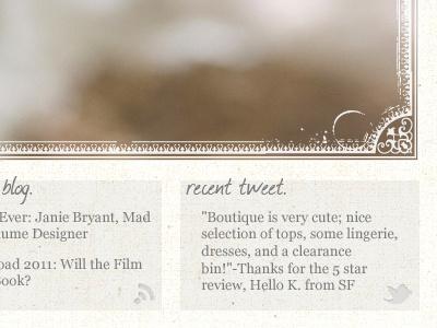 another boutique site! retail shop clothes web design
