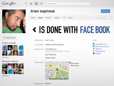 Gplus profile google facebook profile