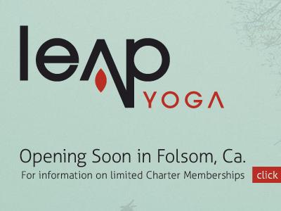 Leap Yoga yoga logo design brand