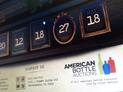 American Bottle redesign redesign antique western wood
