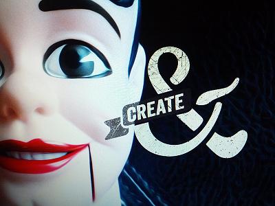 Create& logo create ribbon
