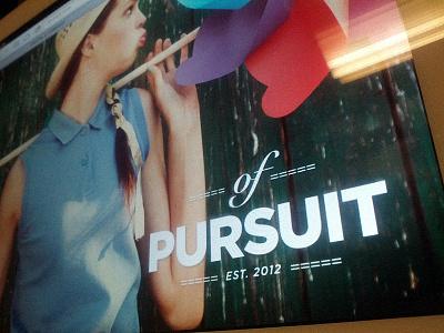 Of Pursuit - pet project logo gotham project web