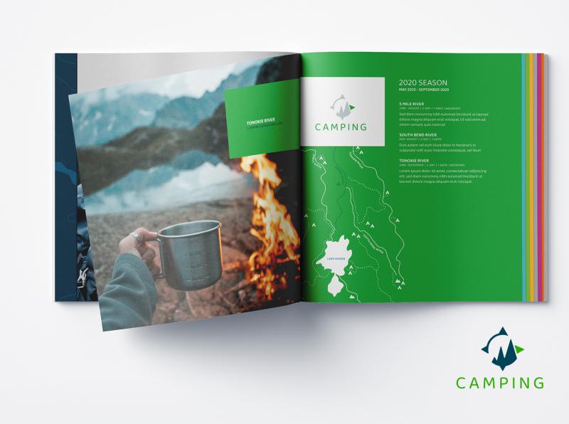 Outdoor excursion brand - print materials print design brochure design identity design branding design