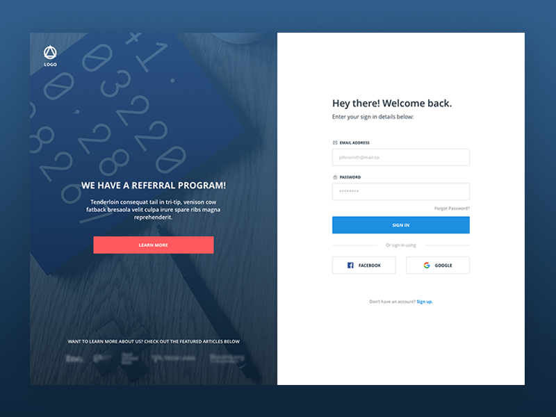Accounting Webapp - Sign in page sketch responsive background ux web design ui design signin login