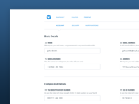 Accounting Webapp - Profile | Account page