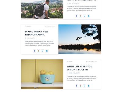 Finance Blog simple minimal webdesign uidesign finance layout post article blog