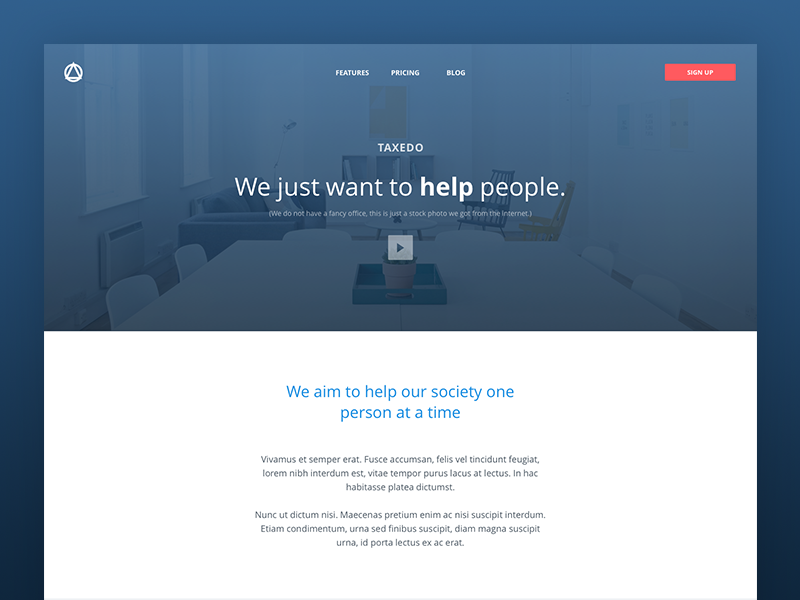 About Page web design uidesign form contact card flat finance landing company team about