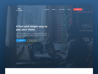 Taxedo - Landing website webdesign landing startup accounting payment service money tax finance