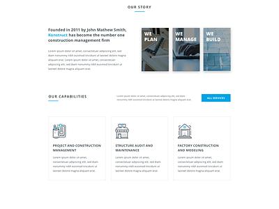Konstruct Landing Page (Free Website Template) landing page template sketch minimal construction webdesign uidesign web ui