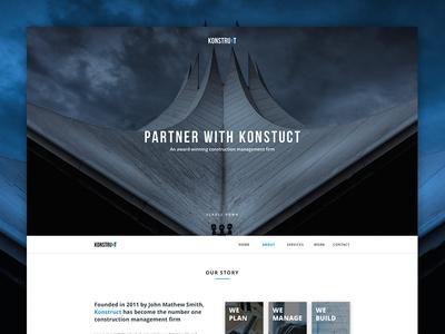Konstruct Landing Page (Free Website Template)