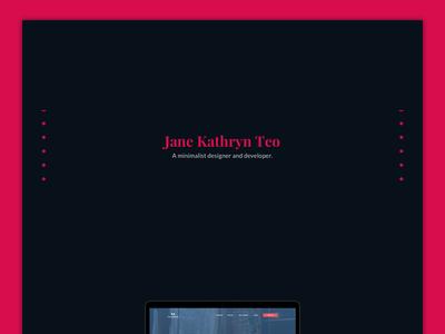 Personal Website ui minimalist minimal personal website ui design webdesign branding website portfolio