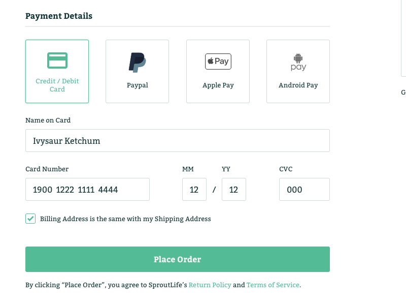 Dailyui 002 checkout