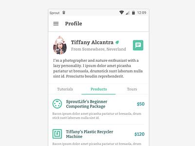#DailyUI :: 006 - User Profile user profile app design material minimalist green form dailyui