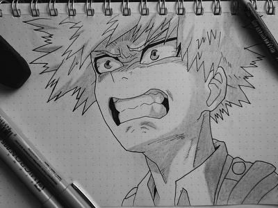 Practice Sketch Series #3 my hero academia boku no hero academia black and white anime hero sketch illustration drawing