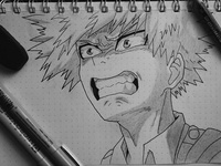 Practice sketch bakugou