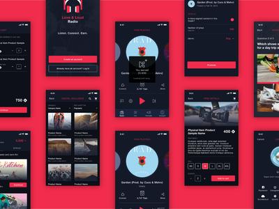 LnL Radio radio music ios design ui design uiux mobile app mobile app design