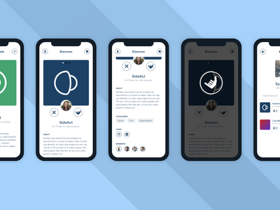 SideAct: Another Side Project invisionstudio experiment side projects ui design ui