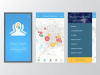 GURU app screens