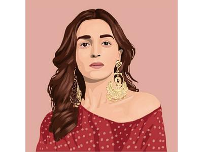 Alia Bhatt illustration digital art