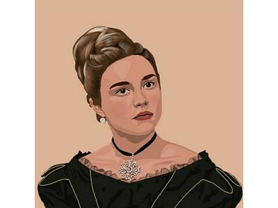 Florence Pugh illustration digital art
