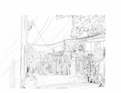 Overlook sketch pencil art illustration