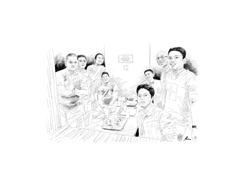 Friends fellowship friends digital art portrait sketch pencil art illustration