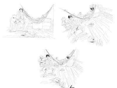 Perspective people perspective chillin digital art sketch pencil art illustration