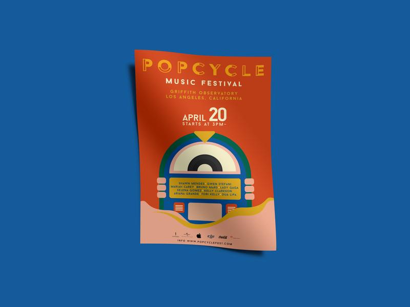 POPCYCLE illustration branding pop event poster event design illustrations graphicdesign poster