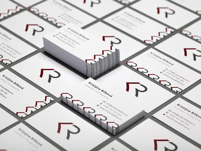 Business cards - Kristýna Bílková business cards business card business card design businesscard typography logo design