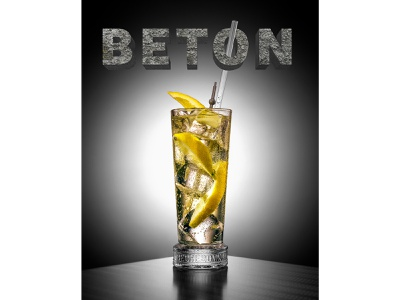 3D Typo Design for coctail BETON graphic design type typography typography art 3d type 3d
