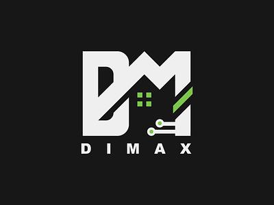 "Logo ""DIMAX"" icon design vector logo logotype brand design typography новый лого брендинг бренд логотип лого"