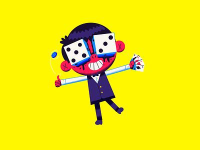 Day 4: Dice Boy dice boy hell halloween cards dice casino season of the bad guys club