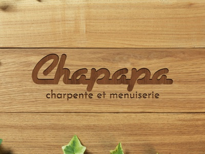 Chapapa logo on mock up - exercice wood typographic logo logo design design typography logotype logo branding