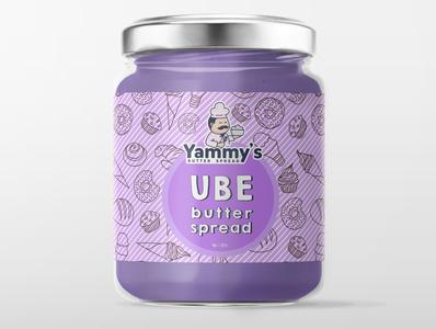 Ube Butter label design @vector @design @labeldesign