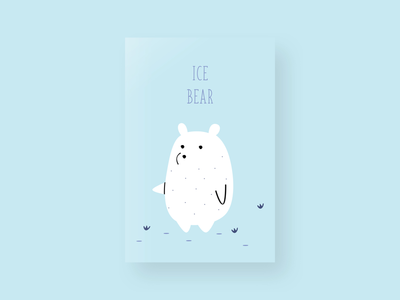 Ice bear life wild wildlife colorful animal art cartoon poster ice bear