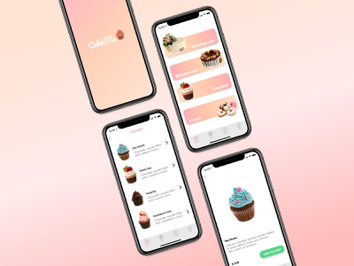 """Sell your cakes easily with """"CakeMe""""! food app sell cake cupcake cakes ui app design"""