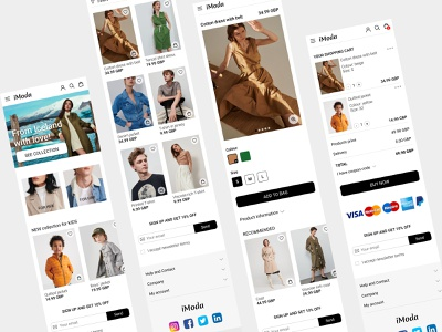 Responsive Design for a clothing store website store clothing mobile website responsive design responsive fashion ui design