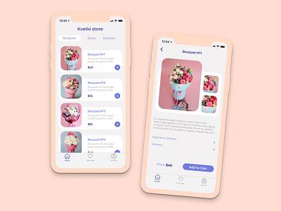 Flower Store App store app ux ui design app flower store flowers