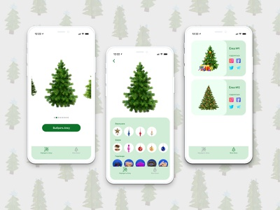 Decorate your Christmas tree belarus ux decoration decor christmas christmas tree app ui design