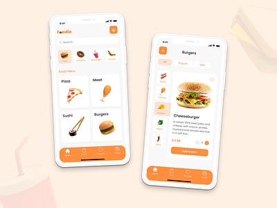 Food Delivery App delivery food burgers design app ux food app belarus logo 3d