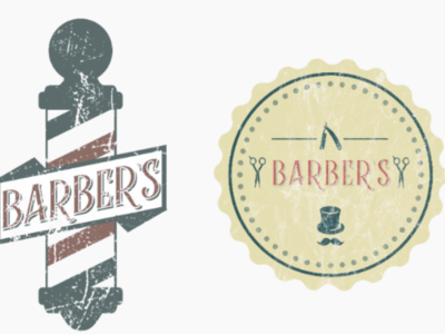 Retro barbershop gentleman straightrazor scissors barbershop vintage retro