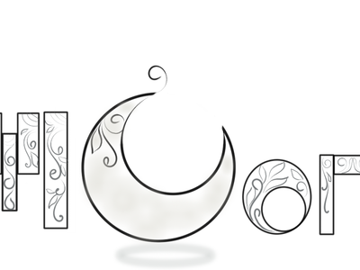 moon animation typography icon vector typogaphy logo illustrator illustration design brand