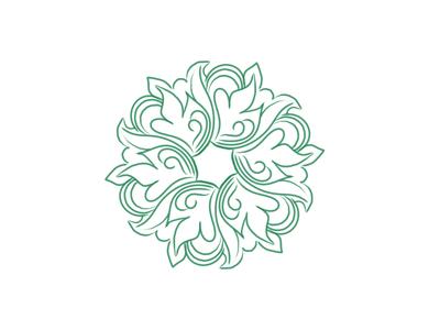 Eccentric Mandala art ux animation icon vector typogaphy brand logo illustration design