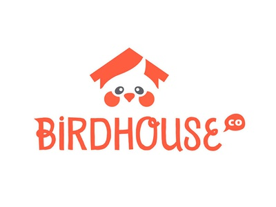 Bird House Logo studio art branding identity cockatiel icon logo house birds bird