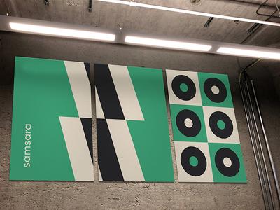 Wall Art samsara office installation art wall minimalism minimal abstract green