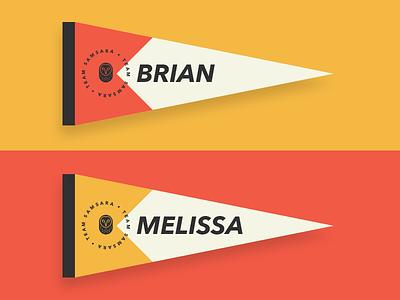 Name Pennants samsara tag tags name yellow orange flags flag pennants pennant