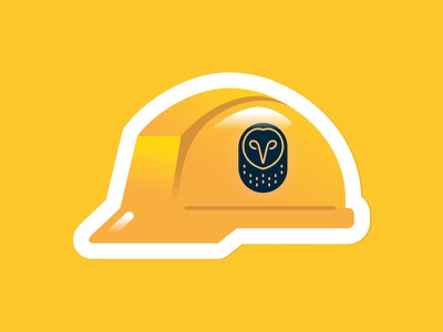 Hard Hat Sticker sticker logo construction hardhat yellow samsara illustration art