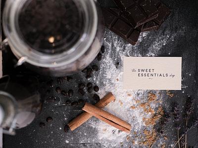 The Sweet Essentials Shop typography photoshop photoshoot photography logo design logo graphic design art direction design business cards branding brand identity brand design brand bakery bake art direction
