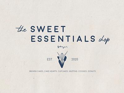 The Sweet Essentials Shop 1900 design graphic design branding design adobe photoshop bake shop bakery bake brand identity brand minimal logotype logo design logo branding