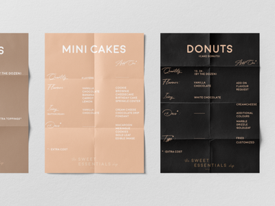 The Sweet Essentials Shop brand art direction logo graphic design poster design brand design brand identity branding mockup photoshop bakery bake menus poster art poster